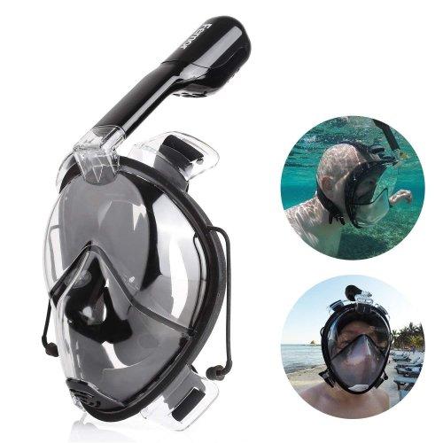 Femor Easybreath Full Face Snorkeling Mask, 180°Seaview Anti-fog Anti-leak Diving Mask for Kids & Adult