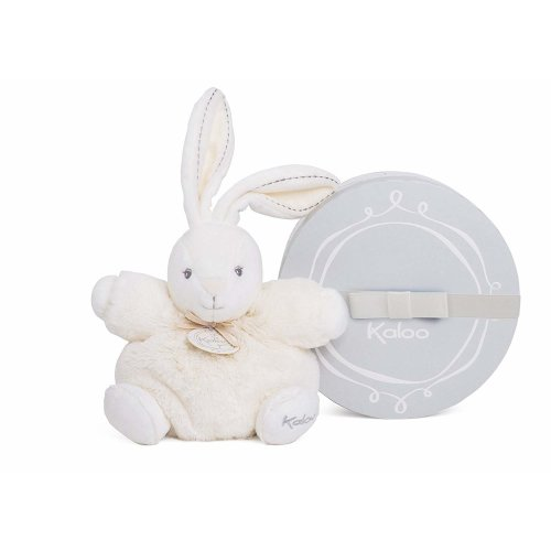 Kaloo K962154 Perle Chubby Rabbit Plush Toy, Cream, 18 cm