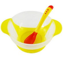 Temperature Sensing Color-changing Spoon And Bowl(Yellow)