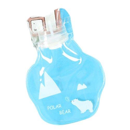 [Bear] 2 Pcs Small Lovely Hot Water Bottle Mini Transparent Hot Water bag