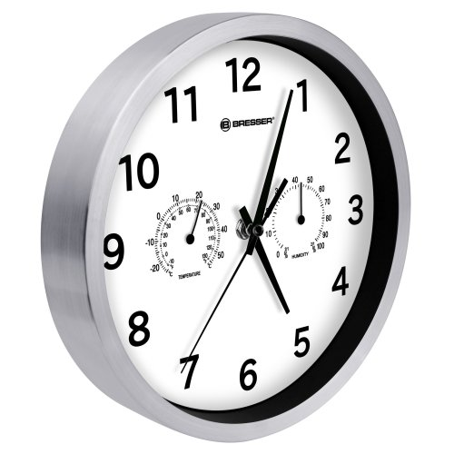 Bresser 8020301 MyTime Thermo/Hygro Wall Clock - White