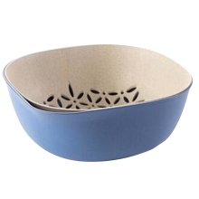 Creative Living Room Fruit-Plate Kitchen Vegetable Plate Drain Basket[C]