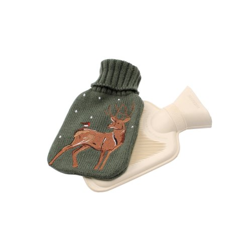 Deck The Halls Stag Hot Water Bottle