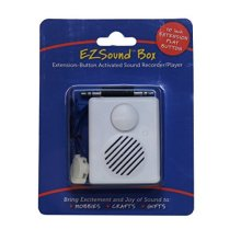 EZSound Box - 10 inch Extension Play Button for Stuffed Animals, Craft Projects, School Presentations, Hobbies, Personalized Items, Model Trains,...