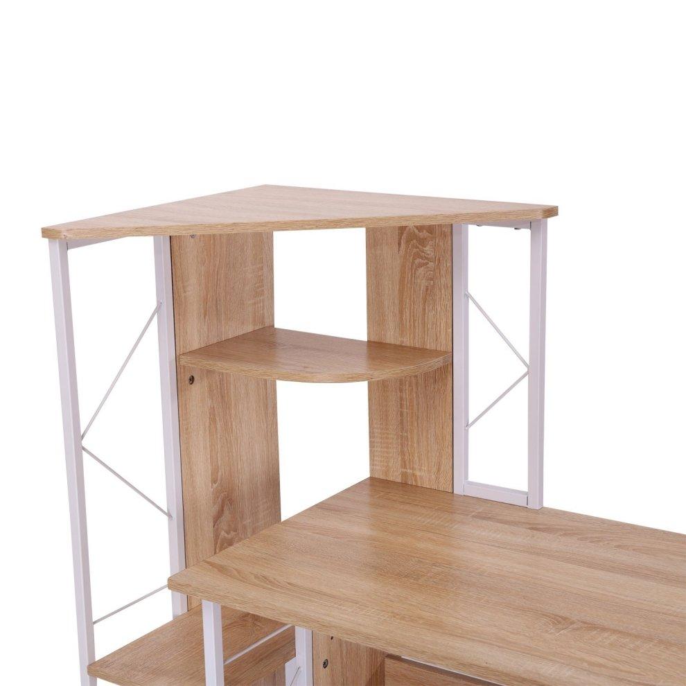 office furniture shelves. Homcom Computer Desk Pc Workstation W/2 Drawers Multi-shelves Office Furniture - 4 Shelves