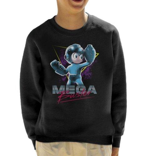 Mega Man Buster Retro 80s Kid's Sweatshirt