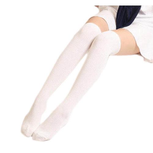 1 Pair Knee-high Stockings Warm Soft Thigh Stockings Leg Warmers Socks-A01