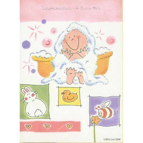 Congratulations a Baby Girl! Greeting Card