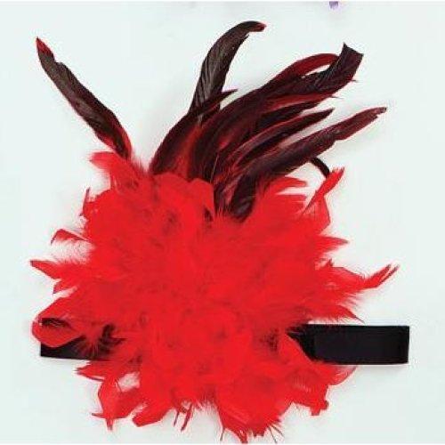 Charleston Headband Red Feather