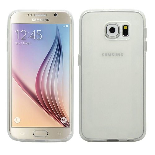 InventCase TPU Gel Case Cover Skin with Screen Protector for Samsung Galaxy S6 2015 - Frosted Clear