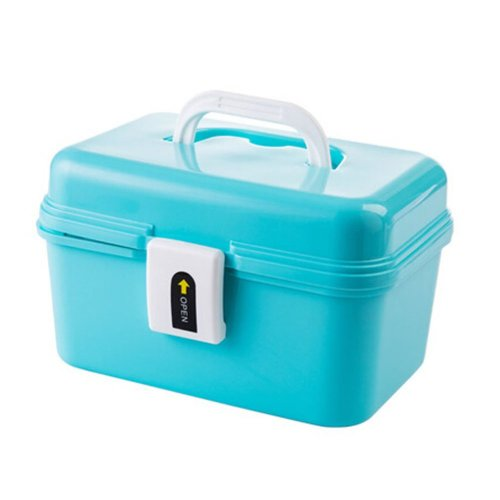 Cute Portable Storage Chests Durable Storage Container Medicine Chest,BLUE