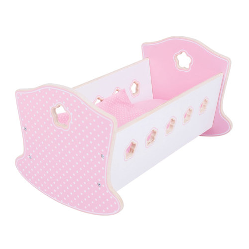Bigjigs Toys Wooden Doll's Rocking Cradle - Doll Accessories