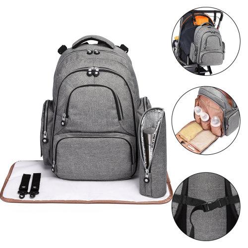 KONO 3pcs Baby Changing Bag Diaper Nappy Bags Travel Backpack Grey