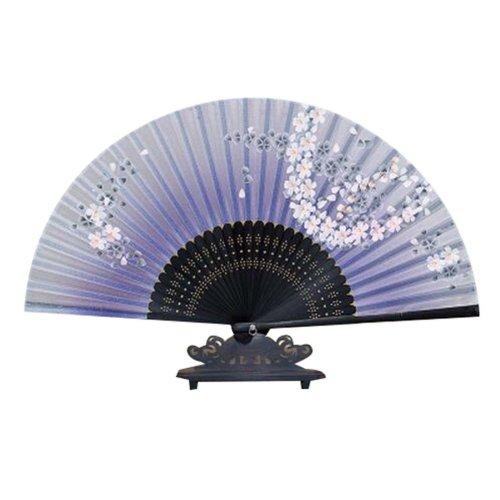 Women's Retro Fabric Fan Handmade Handheld Folding Fan for Protection for Gift