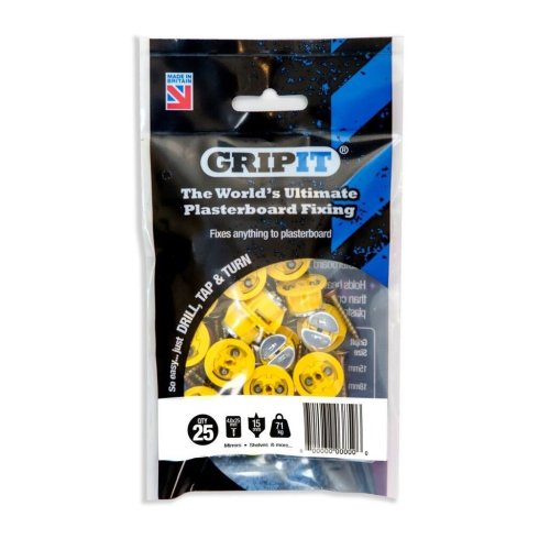 Gripit - Yellow/15mm - Pack of 25