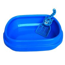 "Cute Design Indoor Training Pet Potty Cat litter Basin(17""*14""*5""),BLUE"