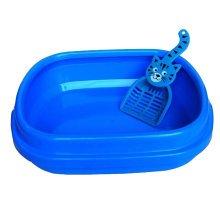 "Cute Design Indoor Training Pet Potty Cat litter Basin(17""*14""*5""),BLUE"