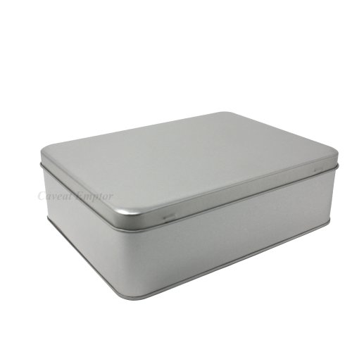 Boxance Large Metal Tin with Hinged Lid Capacity 2.2LitreBiscuit Tin Storage Box Large Retro Metal Tin Tins Cookie Biscuit Pastry Cookies...